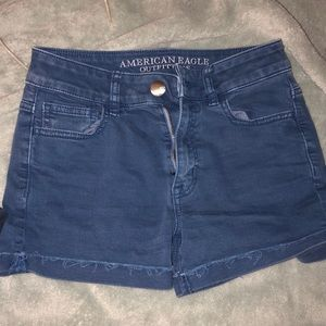 American Eagle jean shorts blue